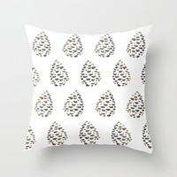 Pinecone pattern Throw Pillow by Creative Break