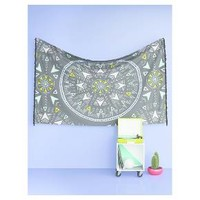 Medallion Print Tapestry 11'x8' Turquoise - Room Essentials™