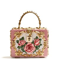 Rose-embossed box bag | Dolce & Gabbana | MATCHESFASHION.COM UK