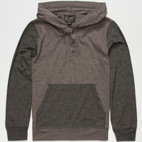 Retrofit Sierra Boys Lightweight Henley Hoodie Smoke  In Sizes