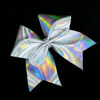 Cheer bow, Sliver cheer bow, holographic cheer bow, Cheerleading bow, Cheerleader bow, Dance bow, Softball bow, Cheerbow