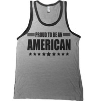Proud To Be An American Mens Tank Top - 4th of july t shirt usa us america tshirt united states patriot tee t-shirt champs military