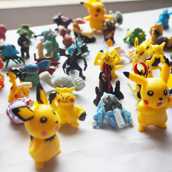 Cartoon Mini Pikachu Minifigure Action Figures For Gift Anime Pocket toy Monster Doll Puppets Child's Play Hand Dolls Toys