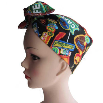 Diner Fabric Head Wrap Scarf