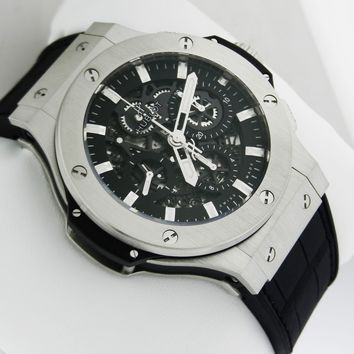 Hublot Big Bang Aero Bang Steel 44mm 311.sx.1170.gr B&P Skeleton Ret: $17,200