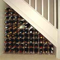 winecase storage under stairs