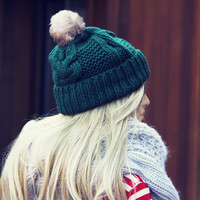 The Ashton Beanie in Green