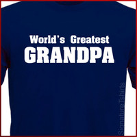 World's Greatest Grandpa Father's Day T-Shirt More Colors S-2XL