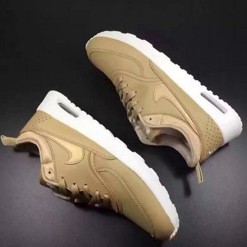 NIKE Women Men Running Sport Casual Shoes Sneakers Fashion Golden