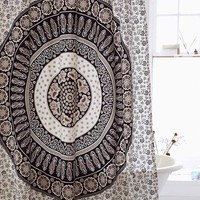 Paisley Medallion Print Shower Curtain - Urban Outfitters