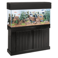 All Glass Aquarium Co. Cabinet Stand Pine 20 x 28 Inch High Black