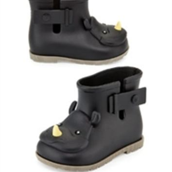 Mini Melissa Sugar Rain Rhino Boot Black