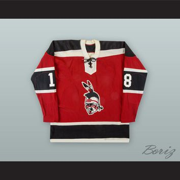 Boston Braves Red Hockey Jersey