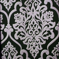 Mood Living Nino Purple and Black Damask Wallpaper