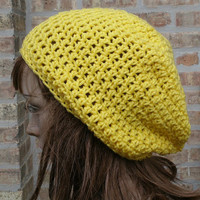 Slouchy Hat - The Eden in Jonquil - Slouchy Beanie - Mens Hat - Womens Hat - Gamers Hat