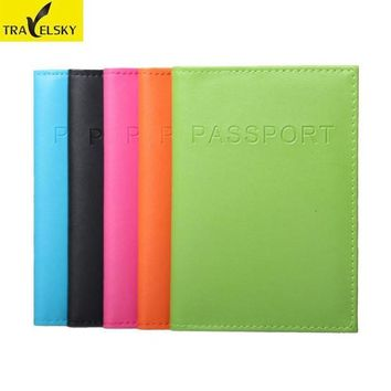 DCCKU62 Travelsky RFID passport holder RFID passport card protection PU leather 5colors tickets holder 1 pcs free shipping 13594