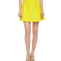 GB Pleated Scuba Skirt - Yellow