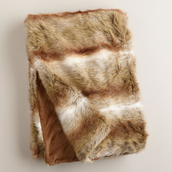 Brown Faux Fur Throws - World Market