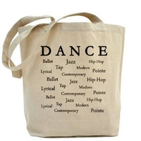 Dance Words Tote Bag
