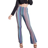 Print Bell-bottoms casual women's trousers Flared trousers