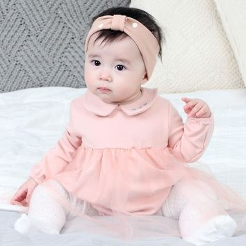 Baby Rompers Mesh Skirt Sets Baby Girl Rompers Autumn Girls Clothing Newborn Baby Clothes Cute Baby Princess Jumpsuits Infant