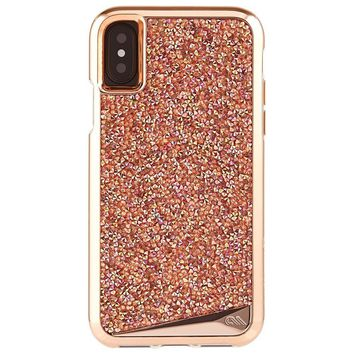 Case-Mate iPhone X Case - BRILLIANCE - 800+ Genuine Crystals - Protective Design for Apple iPhone 10 - Rose Gold