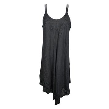 Mogul Womens Black Cover Up Tank Dress Strappy Flare Modern Boho Chic Gypsy Dresses - Walmart.com