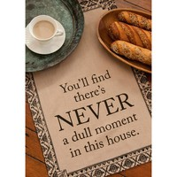 Downton Abbey™ Never a Dull Moment Tea Towel