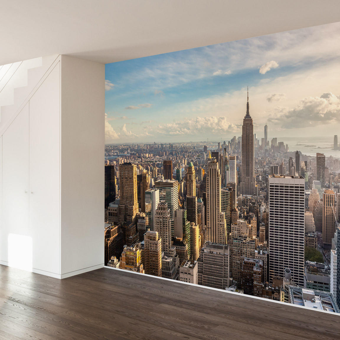 New york skyline wall mural decal download lengkap for Mural sekolah