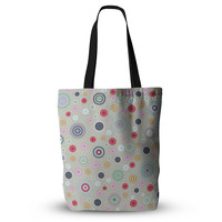 "Suzanne Carter ""Circle Circle I"" Gray Multicolor Everything Tote Bag"