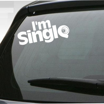 Im single turbo car decal jdm windshield Vinyl Decal Sticker