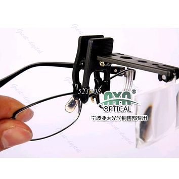 Folding Eyeglass Clip On Flip Magnifying Glass Hands free Precise Magnifier