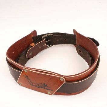 Flying Man Leather Guitar Strap *Free Customization*