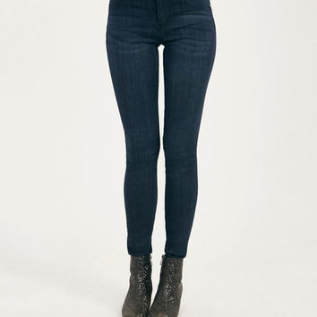 Blue Asphalt Perfect Denim Leggings | Wet Seal