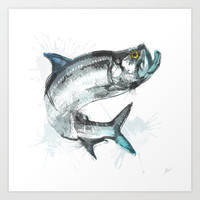 Tarpon Fish Art Print by Allison Reich