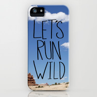 Let's Run Wild - Moab iPhone & iPod Case by Leah Flores