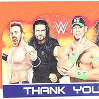 "Amscan Grand Slammin' WWE Birthday Party Postcard Thank You Cards Supply (8 Pack), 4 1/4"" x 6 1/4""., Multicolor"