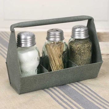 CTW Home Collection - Toolbox Salt, Pepper, and Toothpick Caddy