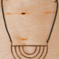 Frances May - Stone & Honey Porta Necklace