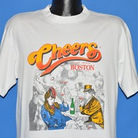90s Cheers TV Show Opening Cartoon t-shirt Large
