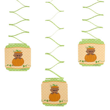 Little Pumpkin African American - Birthday Party Hanging Decorations - 6 ct