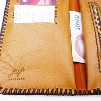 whisky tan leather mans wallet