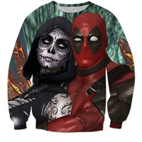 Exclusive Deadpool And Death Long Sleeve Shirt / Tee