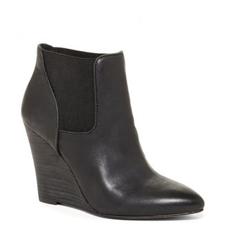 Sole Society Shade Leather Wedge Bootie