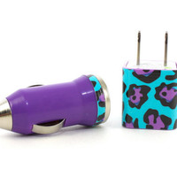 iPhone 5 wall charger and car charger