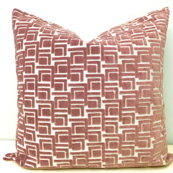 Pink Velvet Pillow Cover,Pink Pillows,Pink Covers,Pink Velvet Pillows,Pink Cushion Covers,Powder Pink Velvet Pillows,Velvet Throw Pillows