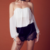 tula off the shoulder top - ivory