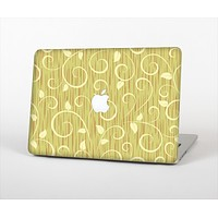 The Light Green Curley Vines Skin Set for the Apple MacBook Pro 15""