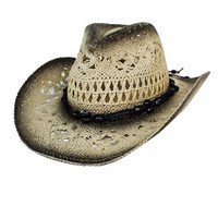 Cowboy Hat with Black Beads (Women's)