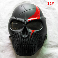 Tactics Paintball full face mask with anti fog lens for CS games in outdoor equipment 12 colors